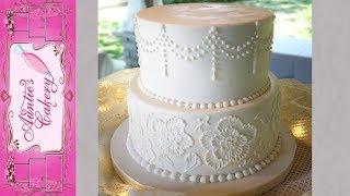 Simple, Yet Elegant White Wedding Cake