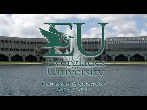 Everglades University Class of 2020, Online Division, Virtual Commencement