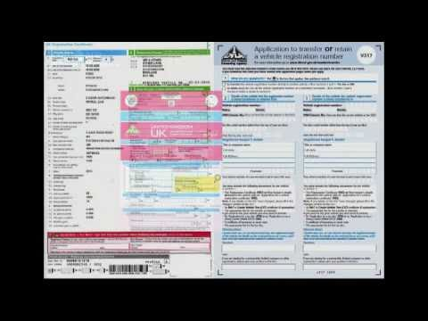How to transfer private number plate from vehicle to Retention Document