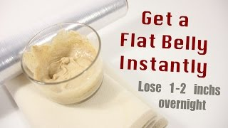 gat a flat belly instantly (DIY body wrap)