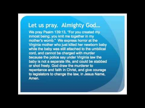 The Evening Prayer 28 Dec 09 Mother Kills Her Newborn
