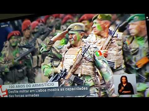 Desfile das tropas especiais Fuzileiros navais  Comandos  operações especiais e os Paraquedistas