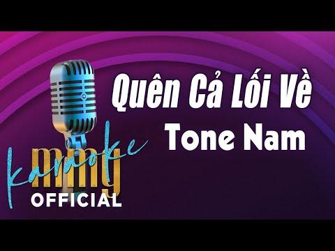 Quên Cả Lối Về (Karaoke Tone Nam) | Hát với MMG Band