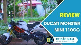 Đánh giá Ducati Monster Mini 110cc 2019 đời mới ► Quái vật tí hon thể thao đường phố
