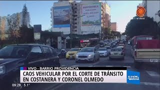 Información de tránsito - Cortes en Costanera norte