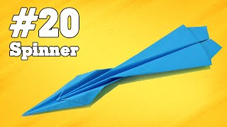 How to make a paper airplane that Flies - Simple Origami paper planes for Kids #20| Spinner