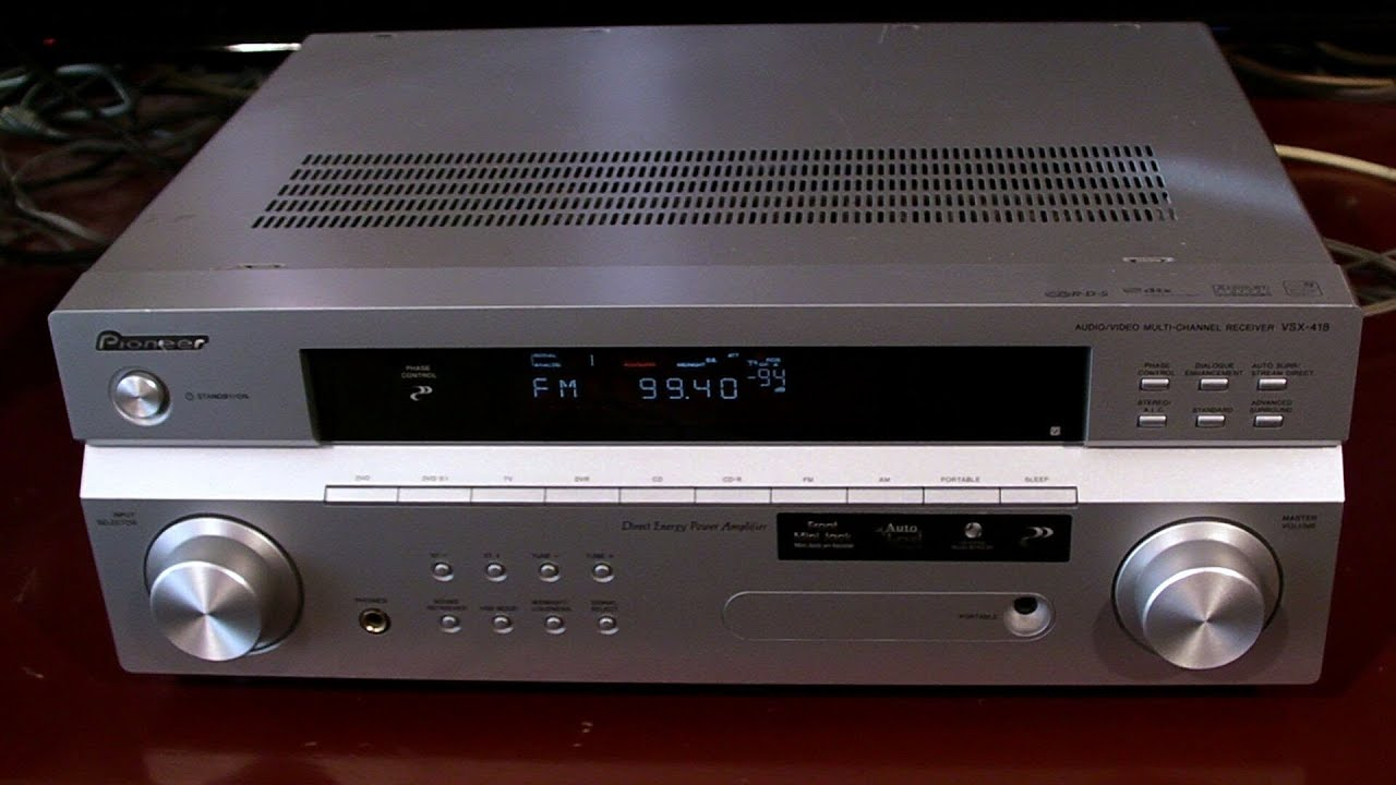 Pioneer Av Receiver >> pioneer vsx-418 review - YouTube