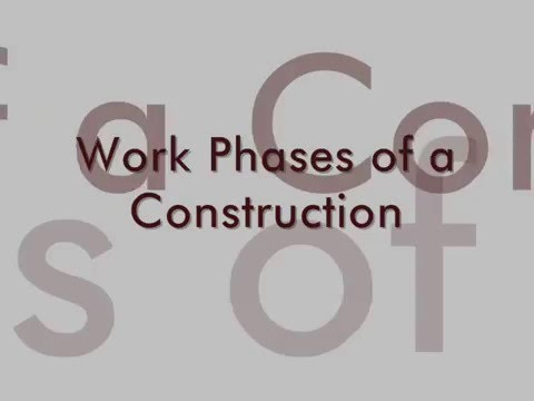 Interior Renovations and Total Fit-Outs (Work Phases of a Construction)