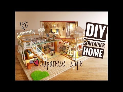 DIY How To Make – DIY 3 in 1 Miniature Container Home in Japanese Style with Music and Light