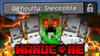 I Beat Minecraft on IMPOSSIBLE DIFFICULTY in HARDCORE?! (very scary)