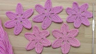 Урок вязания крючком для новичков  ЦВЕТОК крючком для начинающих Сrochet flower pattern