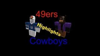ROBLOX • NFL • 49ers VS Cowboys