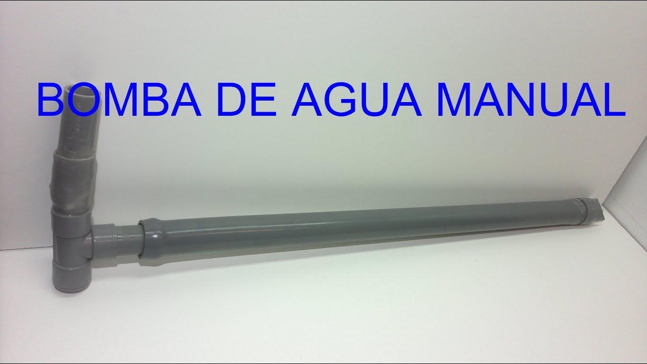 Bomba agua casera bomba de agua manual con tubos de pvc - Bombas de agua ...