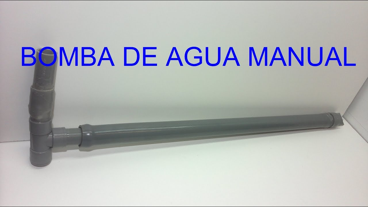 Bomba agua casera bomba de agua manual con tubos de pvc - Bomba manual de agua ...