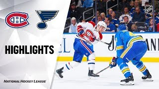 Canadiens @ Blues 10/19/19 Highlights