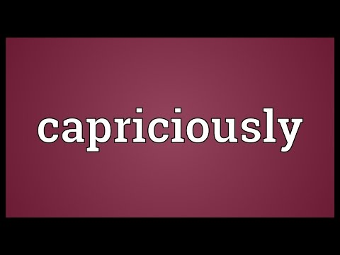 Header of capriciously