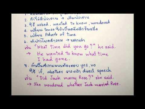 อังกฤษ ม.3 เข้า ม.4 Grammar Direct & Indirect Speech อ.ณภัชชา