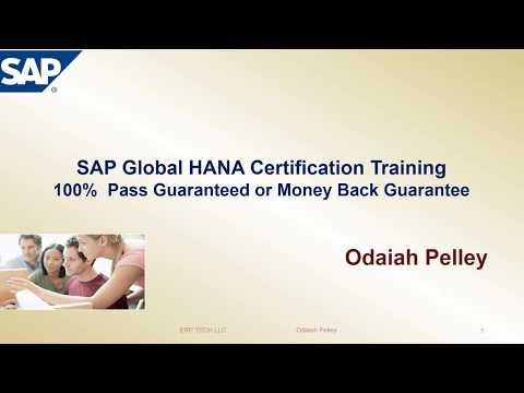 SAP HANA Certification exam