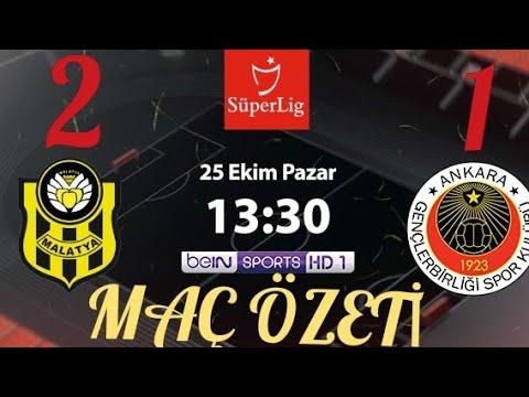 Yeni Malatyaspor 2 - 1  Gençlerbirliği Maç Özeti//25.10.2020