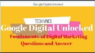 Google digital unlocked answers module 3