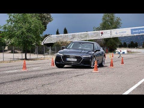 Audi A7 2018 - Maniobra de esquiva (moose test) y eslalon | km77.com