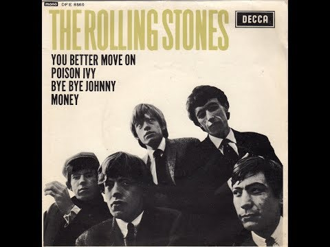 """BYE BYE JOHNNY""  THE ROLLING STONES  DECCA EP DFE 8560 P 1964 UK"