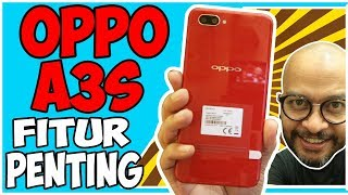 Oppo A3s Fitur, Oppo A3s Fitur penting