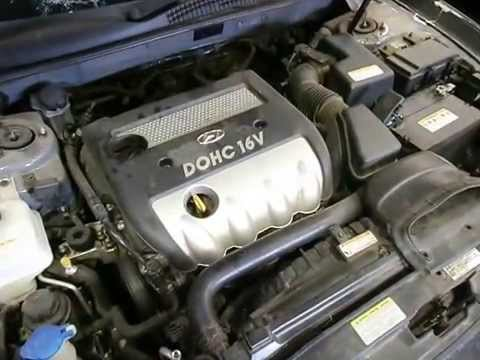 WRECKING 2006 HYUNDAI SONATA ENGINE 24 (J14632)  YouTube