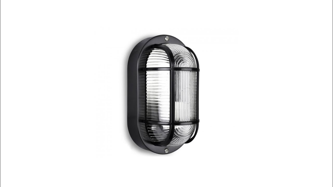 Minisun Carnforth 40w Oval Outdoor Bulkhead Light Unboxing Uk