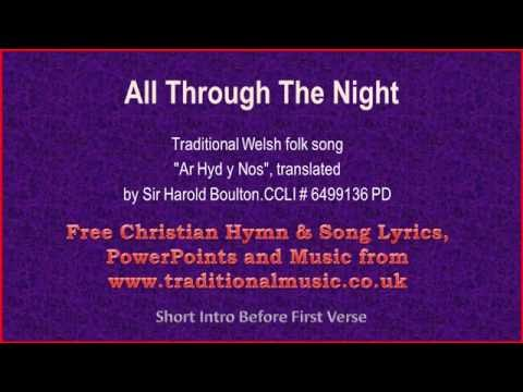 All Through The Night(corrected) - Welsh Lyrics & Music Video