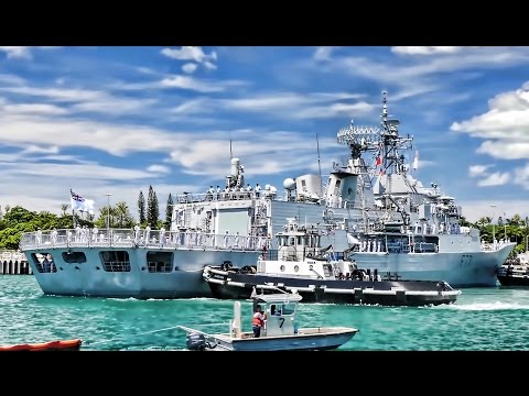 Warships Dock At Pearl Harbor Naval Base For RIMPAC 2016