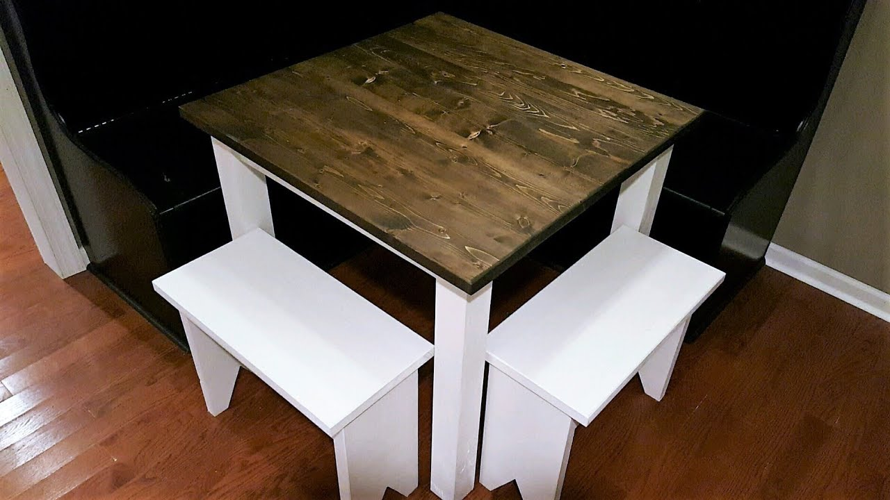 Small Farmhouse Table Build Diy Youtube
