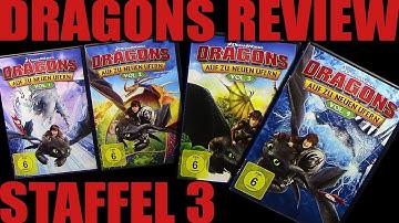 Dragons - Auf zu neuen Ufern ®™ Staffel 3 Vol. 3 + 4 DVD Review