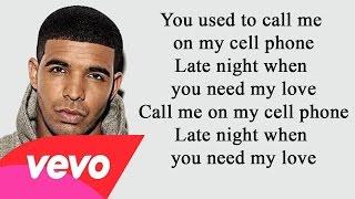 Drake - Hotline Bling Lyrics - (feat.William Singe) - [Full HD] Lyrics Video