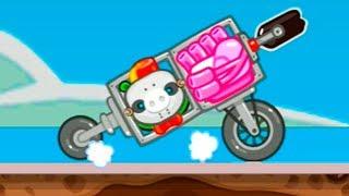 ВОЗДУШНЫЙ ШАРИК и ВЕРТОЛЕТ в Bad Piggies #23 игра про мультик. Развлекательное видео с Кидом