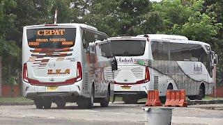 KEJAR WAKTU BUS CEPAT Eka dan Sugeng Rahayu di terminal Ngawi