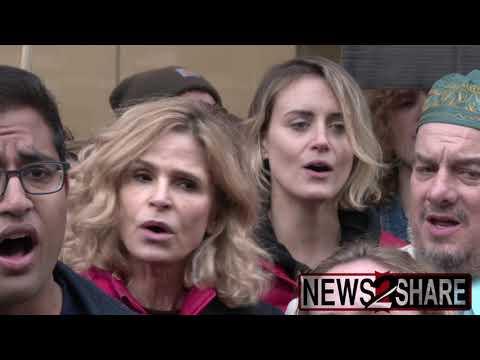 Celebrities and Climate Activists Protest BlackRock, Wells Fargo