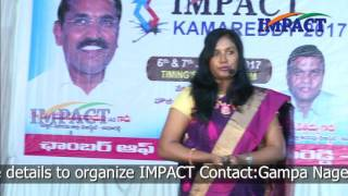 Enthusiasm is super power by Dr Kavitha Ajay at IMPACT Kamareddy 2017