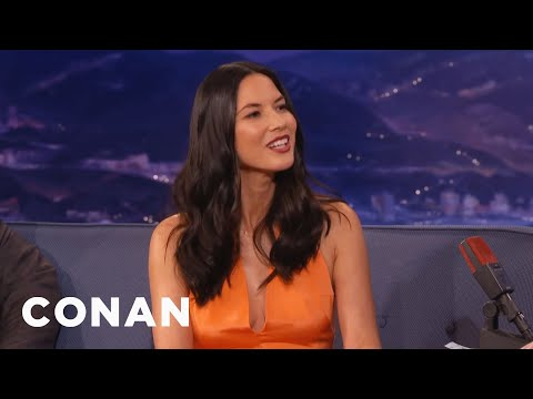 When Olivia Munn Met Aaron Rodgers   CONAN on TBS