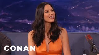 When Olivia Munn Met Aaron Rodgers  - CONAN on TBS
