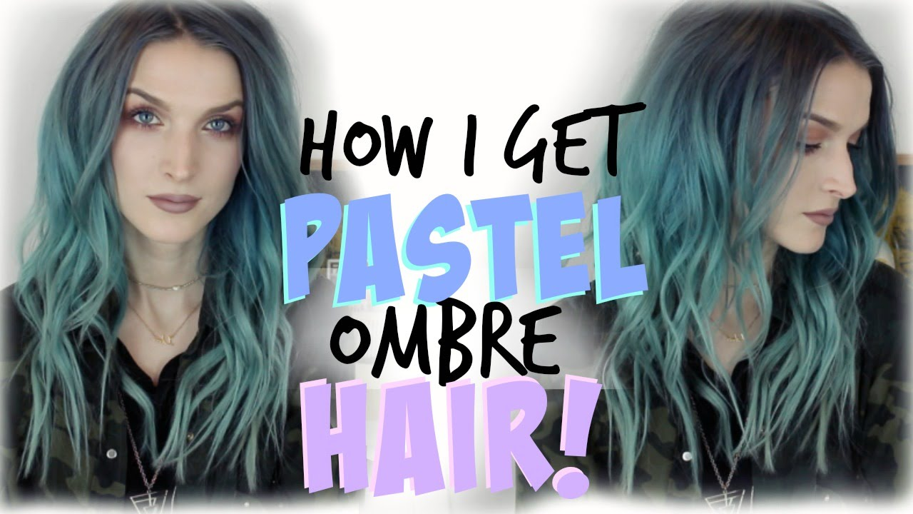 How I Get Pastel Ombre Hair Youtube