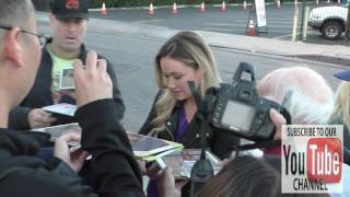 Katrina Bowden greets fans outside Arena Cinema in Hollywood