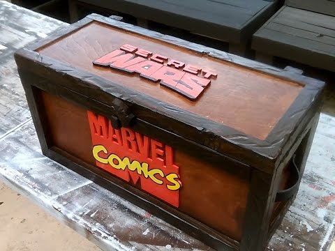 Comic Book storage box / chest / Secret Wars / Marvel / Make Video