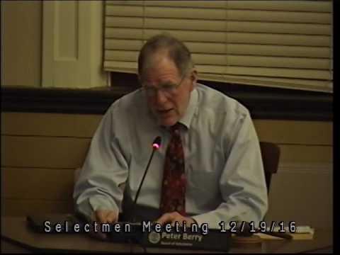 Selectmen Meeting 12/19/16