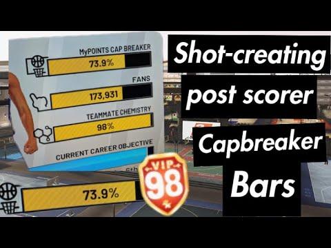 Cap Breaker Bars on ShotCreating PostScorer from 89-99 NBA 2k19 *not  clickbait*