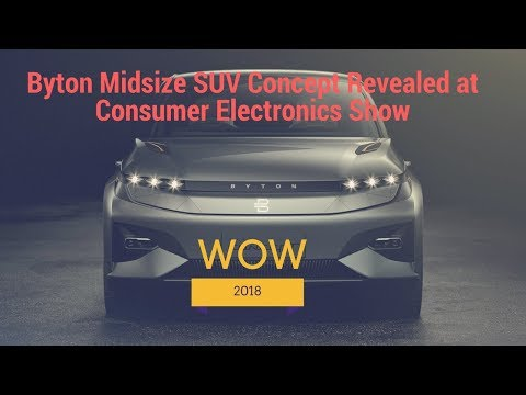 Byton Midsize SUV Concept Revealed at Consumer Electronics Show