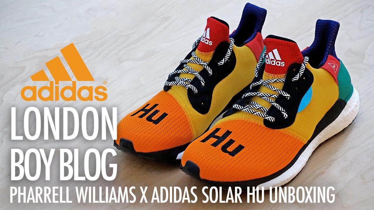 fe40d8bc0c7 Pharrell Williams X Adidas Solar HU Glide ST Unboxing (Multi colour)  Adidas   PharrellWilliams