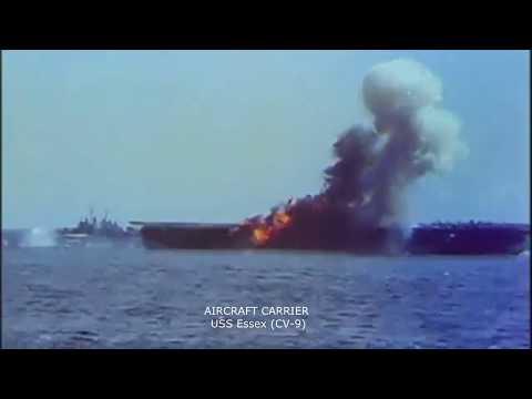 Kamikaze Attack 1944 color film