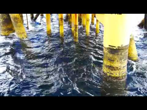 Waves Hit Surface Casing Of Producing Platform Facility At Offshore Stock Footage Video 11709068   S