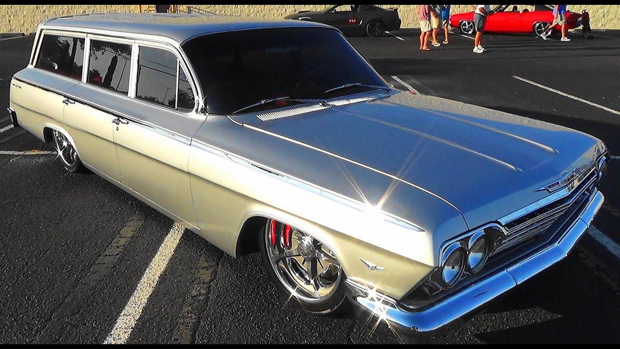1962 Chevy Wagon Street Rod Cruisin' The Coast 2015 - YouTube